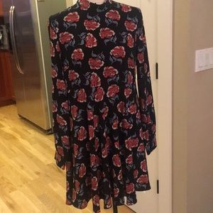 re:named long sleeve floral dress size L